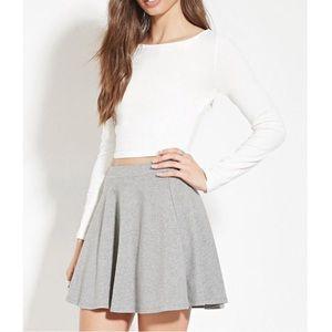 Forever 21 Heather Grey Skater Skirt Sz S